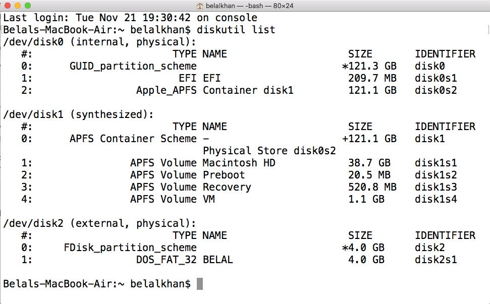diskutil terminal mac