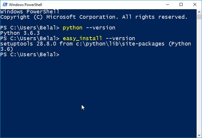 confirm python installation
