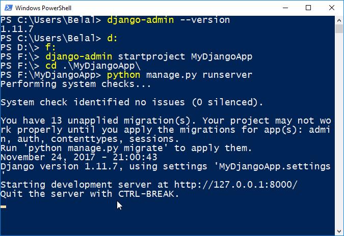 python server