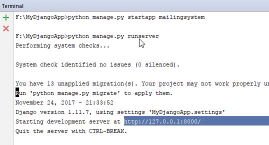 running python server