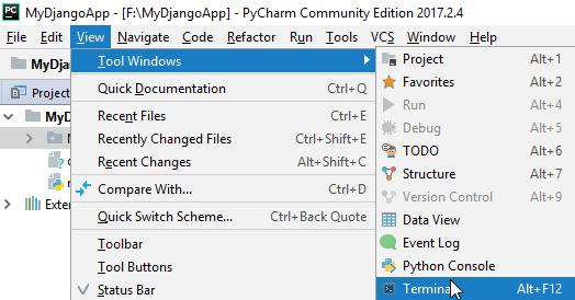 Django database api saving data in sqlite using models terminal in pycharm malvernweather Gallery