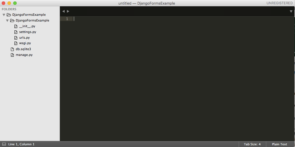 Django Forms Example Sublime