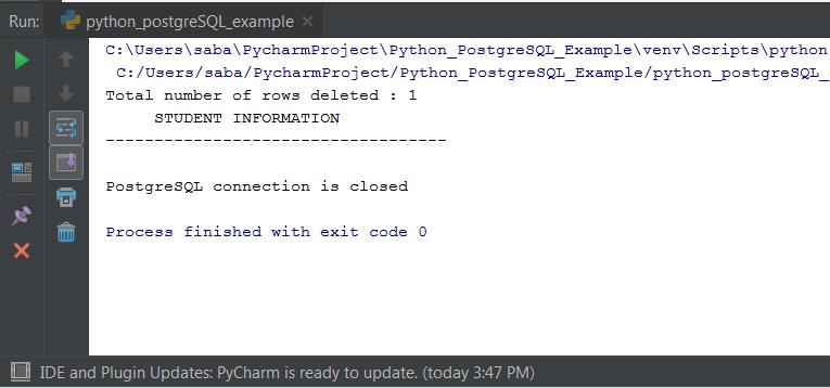 Python PostgreSQL Tutorial : CRUD Operation In Python PostgreSQL