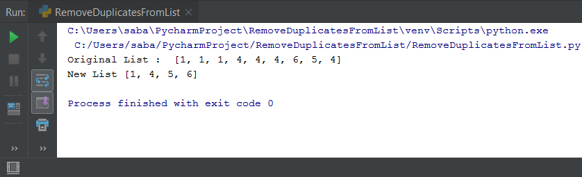 Python Remove Duplicates From List