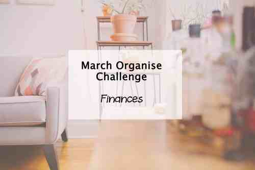Simplify My Life Challenge March organise finances
