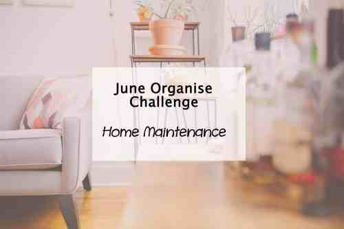 simplify my life challenge home maintenance plan