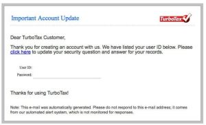 TurboTax Phishing2