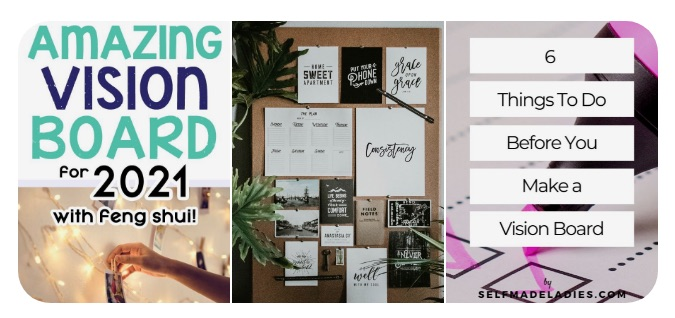vision boards from pinterest