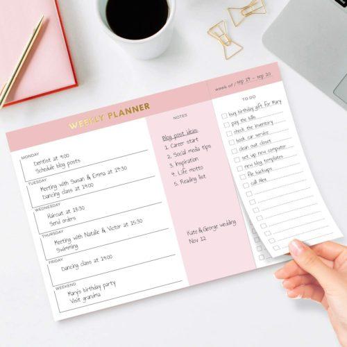 weekly planner from sweetzer & orange