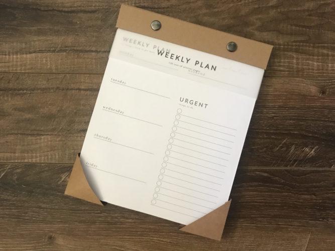 habitat weekly planner