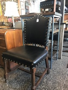 black chair with price tag
