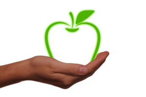 cupped hand apple