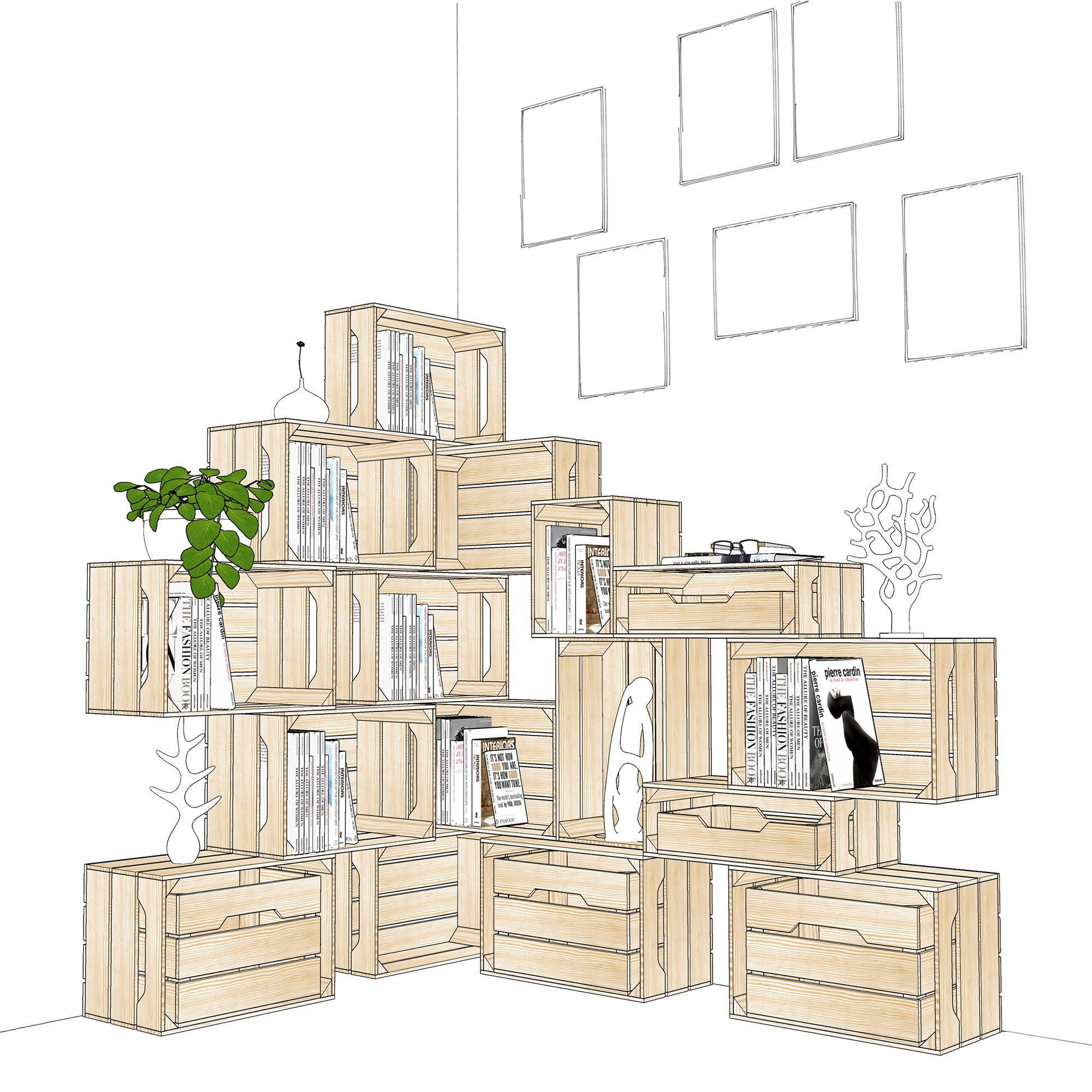Caisse En Bois 12 Large Simply A Box