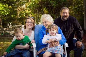 My grandmother, and my kids last living grandparent. So glad we got to take this.