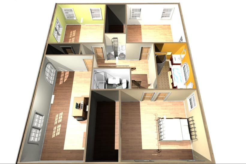 Second floor bedroom addition cost for Second story addition plans