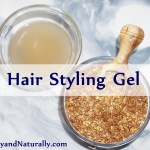 Homemade Hair Styling Gel With Flaxseeds