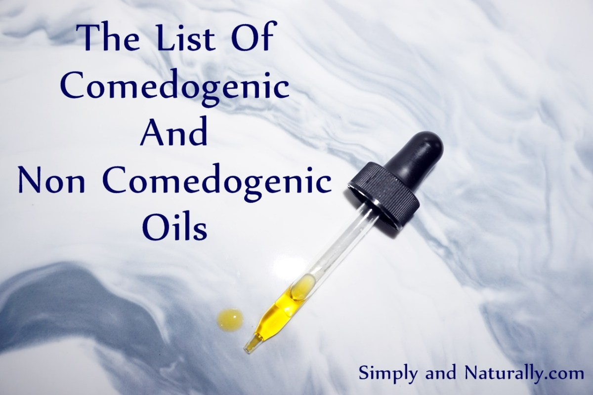 The List Of Comedogenic And Non Comedogenic Oils