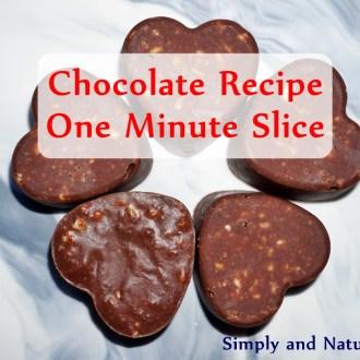 Chocolate Recipe – One Minute Slice