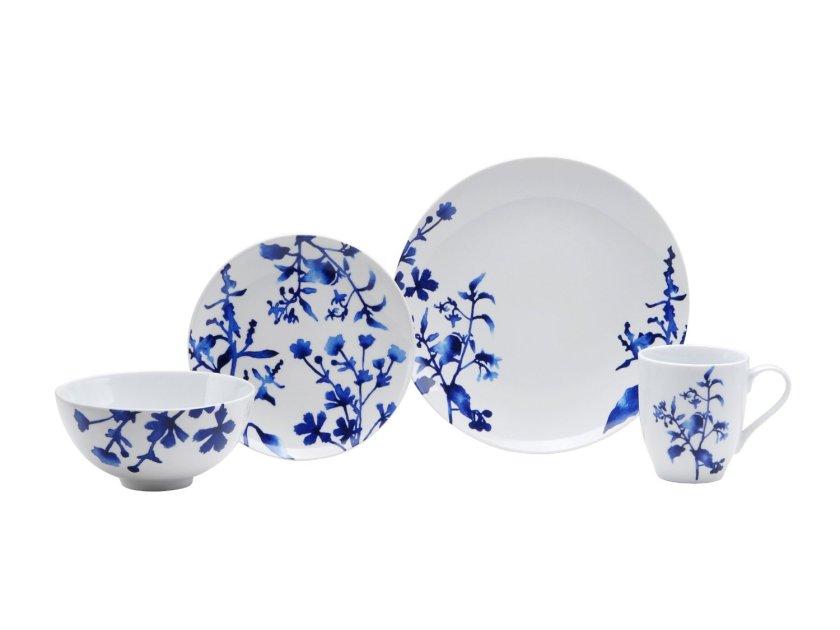 cobalt blue dinnerware set