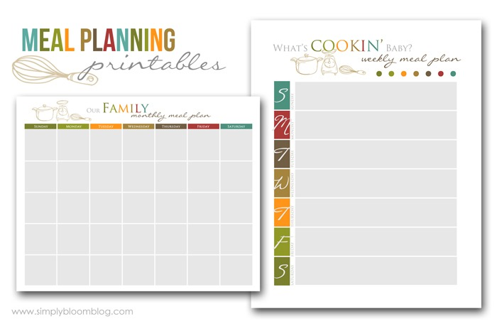 graphic regarding Meal Plan Printable named Evening meal Creating Printables  Quickly Bloom