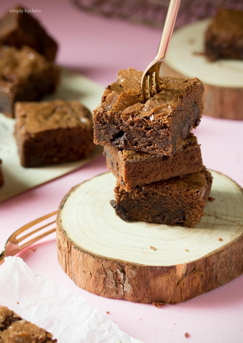 保證有脆皮又濕潤的巧克力布朗尼