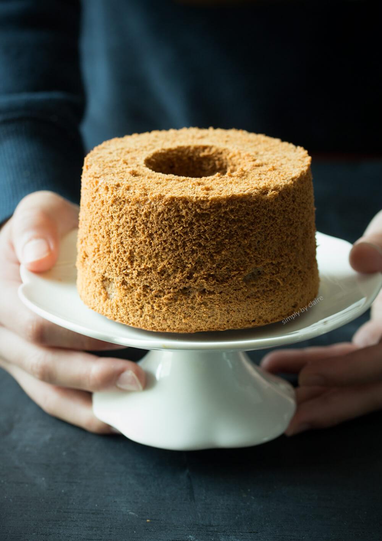 烤過頭的米戚風蛋糕