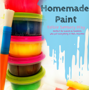 Homemade Paint (Perfect for Babies & Toddlers!)