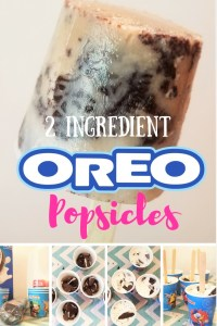 {Super Easy} 2 Ingredient Oreo Popsicles