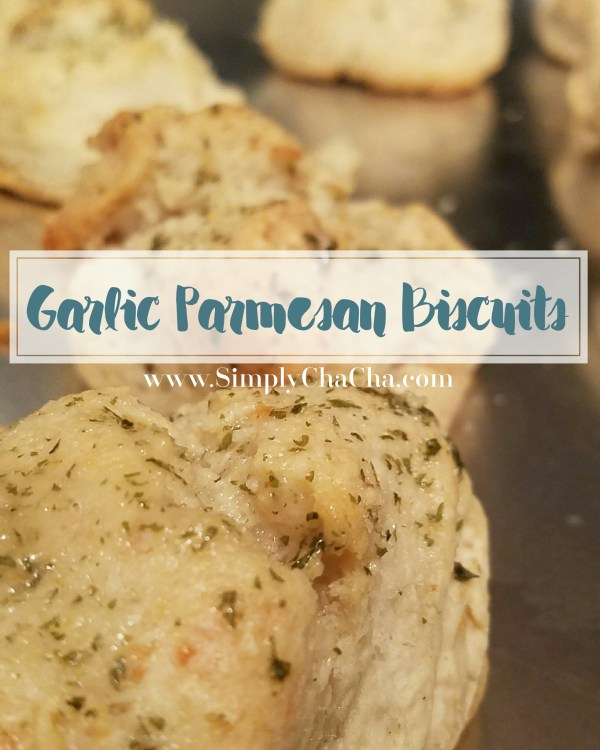 easy DIY garlic Parmesan biscuits made with bisquick, krusteaz or any pancake batter mix. makes 12-18 biscuits