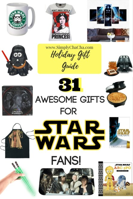 SimplyChaCha's Holiday Gift Guide: 31 Awesome Holiday Gifts for Star Wars Fans!