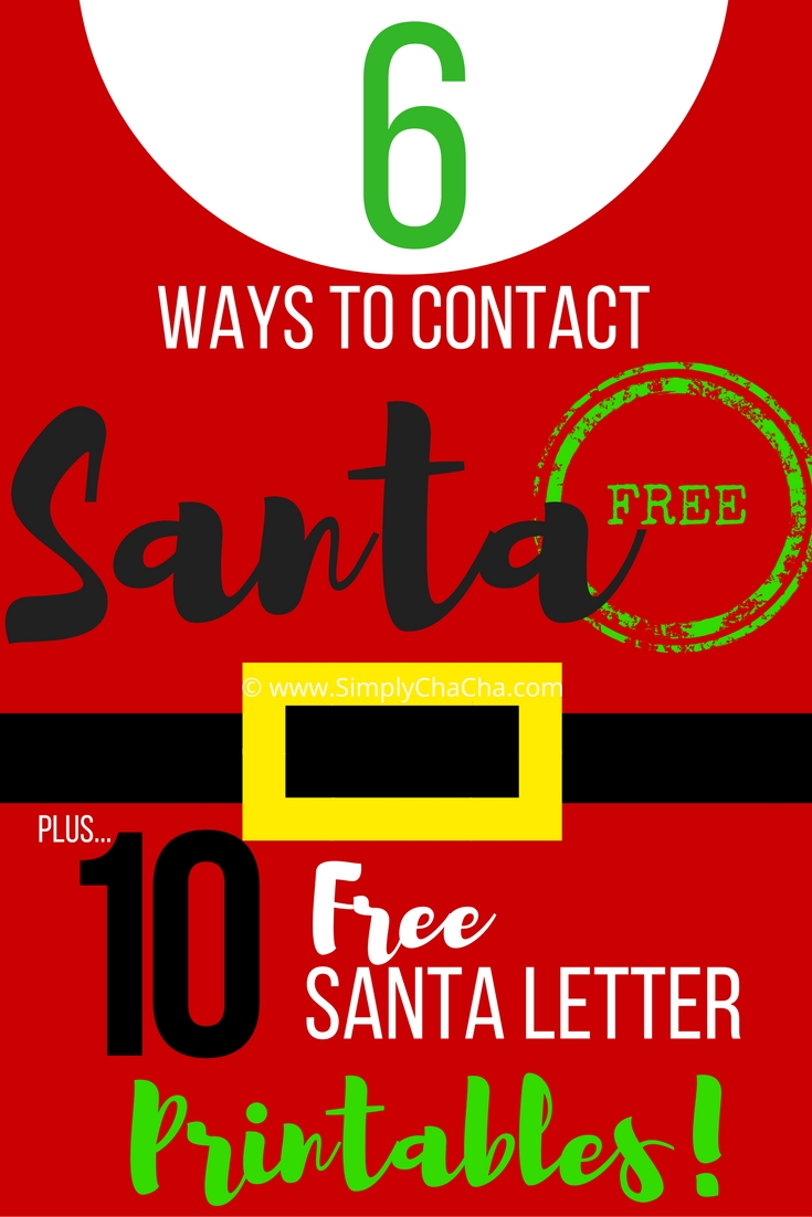 6 FREE Ways to Contact Santa Now! {+FREE Printables!}
