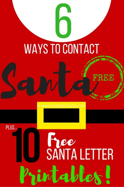6 Ways to Contact Santa! Plus - 10 FREE printable Santa letter templates for kids!