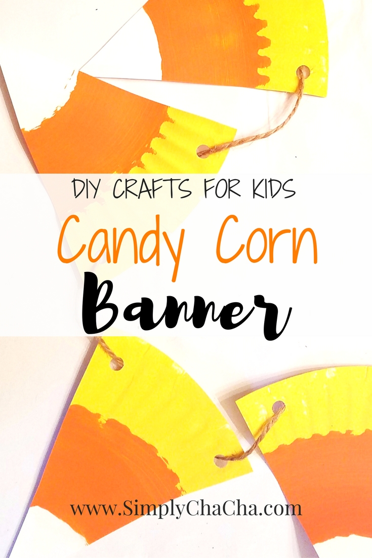 candy corn banner diy crafts for kids - Seasonal, Autumn & Halloween party decorationg