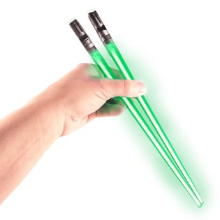 Best Gifts For Star Wars Fans - Chop Sabers Light Up Lightsaber Chopsticks, Green Pair