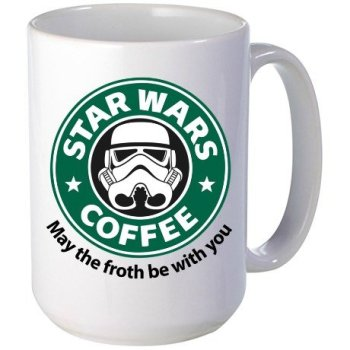 Best gifts for Star Wars Lovers - 11oz mug May the Froth Be with you