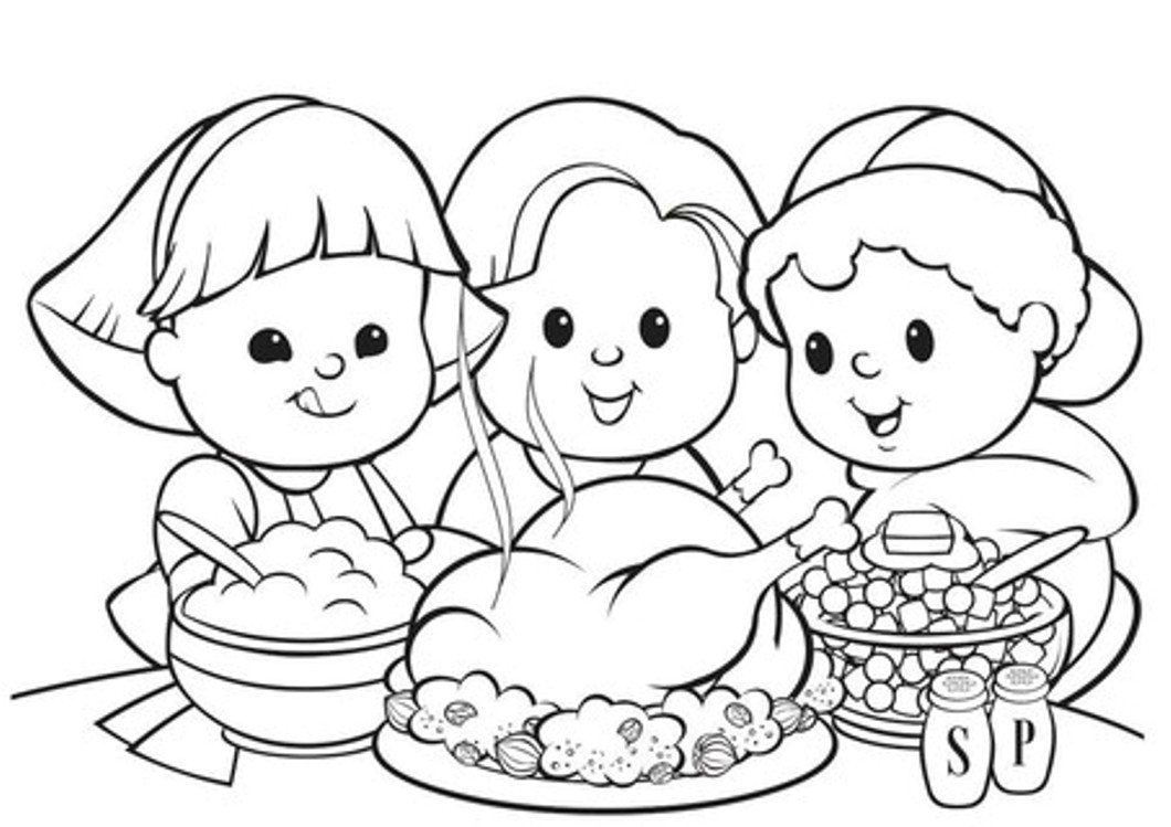 Thanksgiving Cute Indisn Coloring Pages