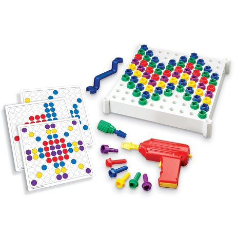 HOLIDAY GIFT GUIDE STEM TOYS FOR TODDLERS 2-4 Educational Insights Design and Drill Activity Center