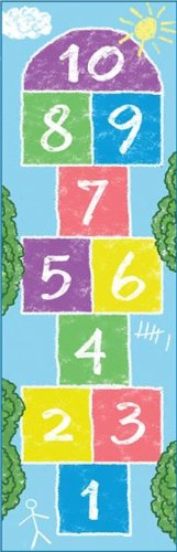 Holiday Gift Guide - Ages 2-4 Hop Skotch carpet - Learning carpets Pastel Rainbow