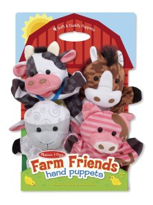 HOLIDAY GIFT GUIDE 2016 HOTTEST TOYS AGES 2-4 Melissa & Doug Farm Friends Hand Puppets