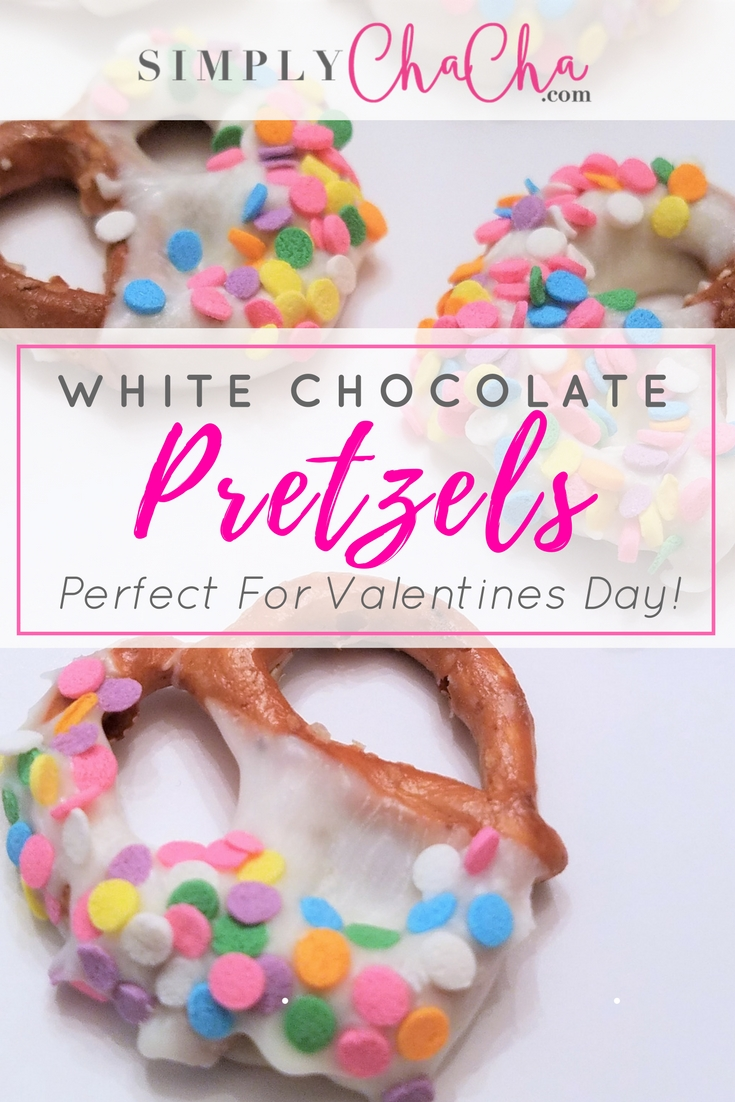 White Chocolate Pretzels Perfect For Valentines Day! Get the EASY step by step recipe at SimplyChaCha.com