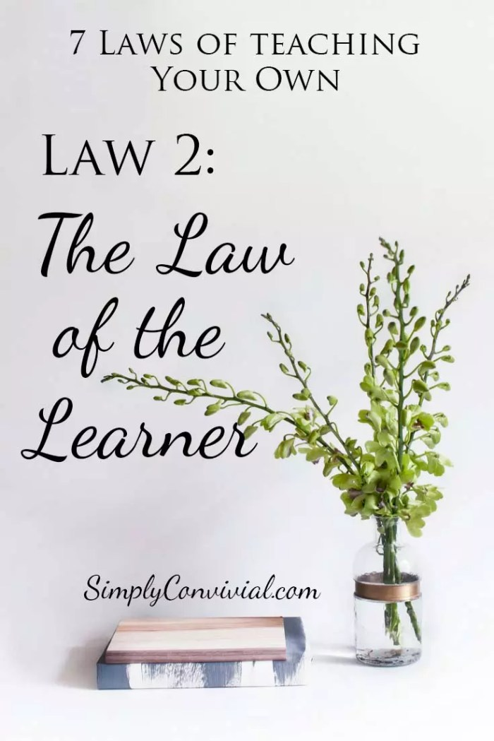 7 Laws of Teaching: Law 2, the Law of the Learner.
