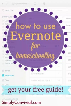 evernote for homeschooling