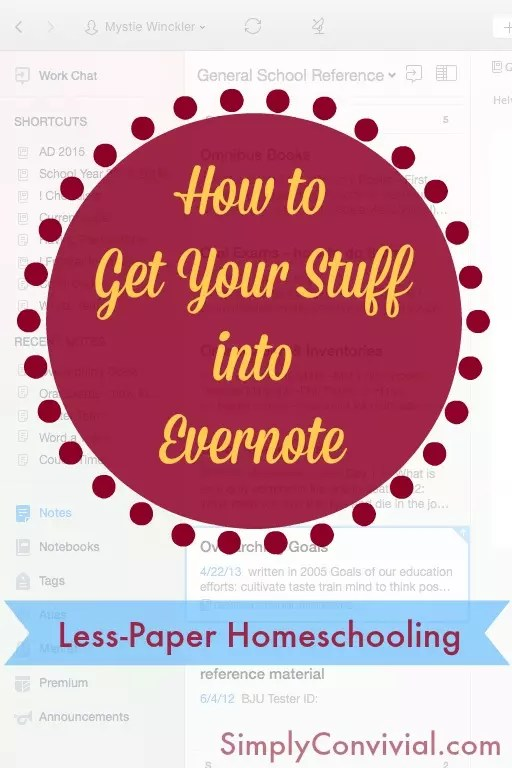 One of the things that makes Evernote so versatile and convenient is the number of ways you can get your stuff into it. Paperless homeschooling begins with Evernote.
