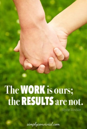 The work is ours, the results are not.