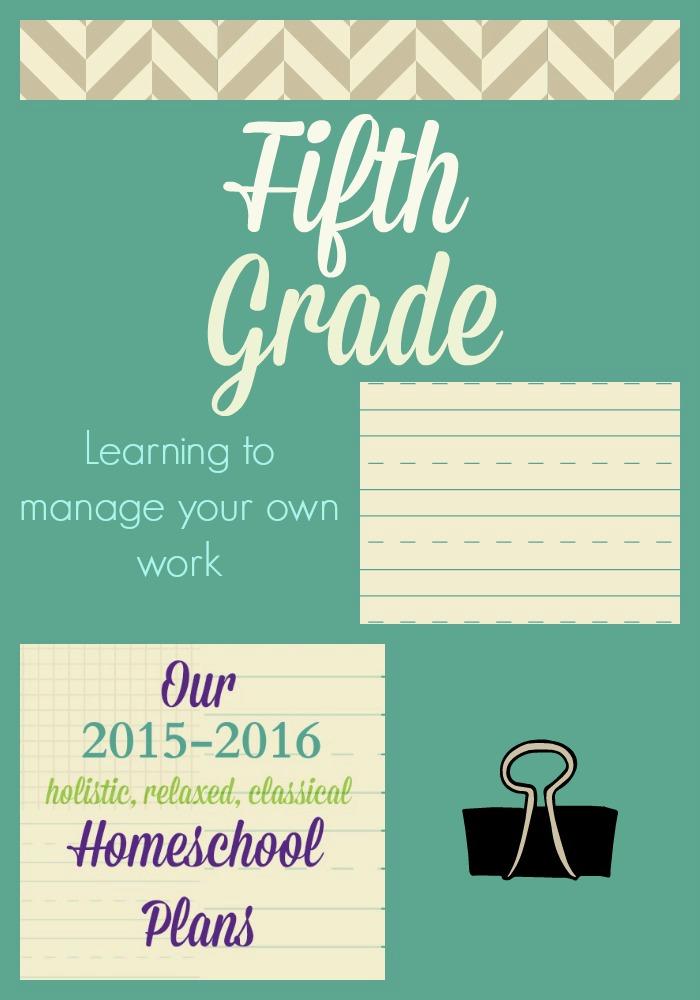 Homeschool Plans for 5th Grade