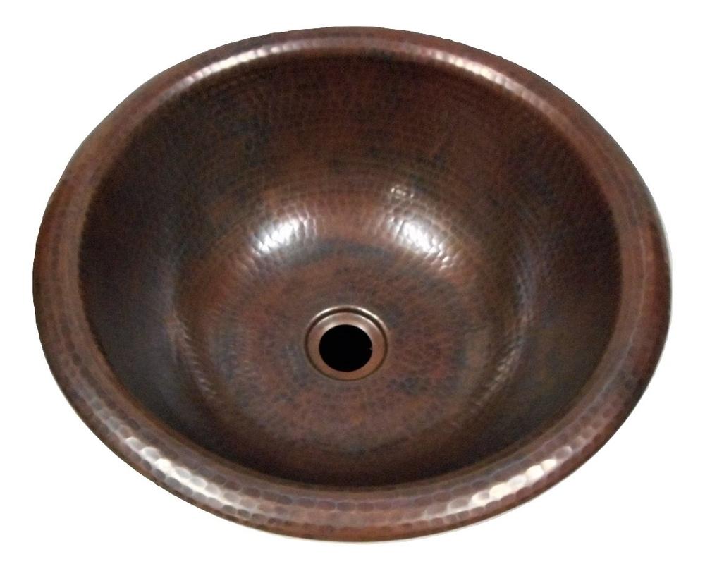 14 round copper bath wine whiskey barrel sink
