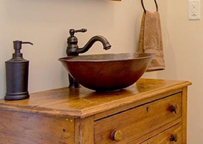 14 rustic round copper bath sink basin