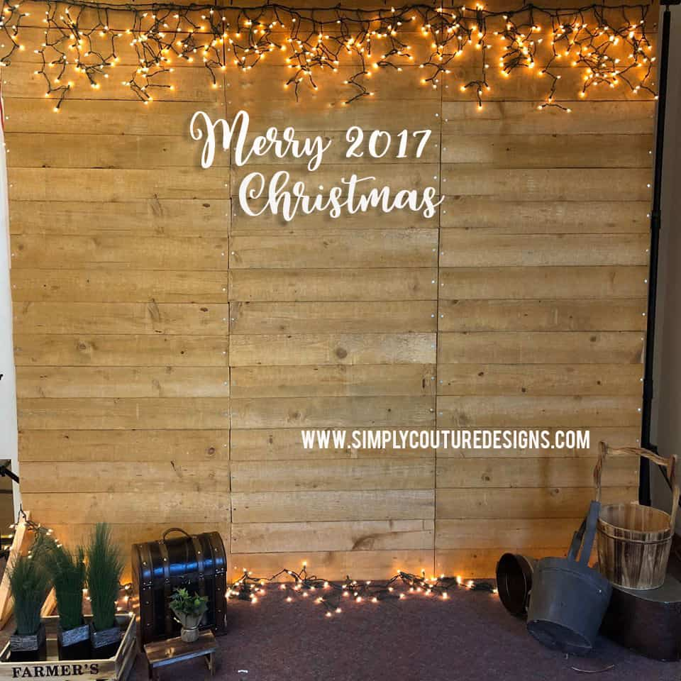DIY photo booth rustic style