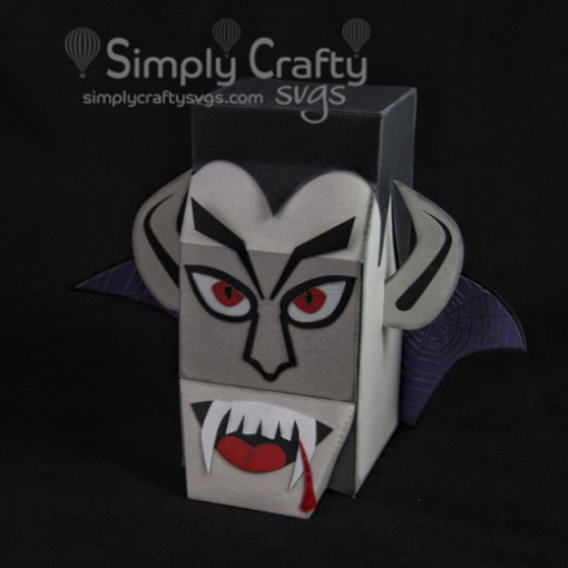 Vampire Head Box SVG File