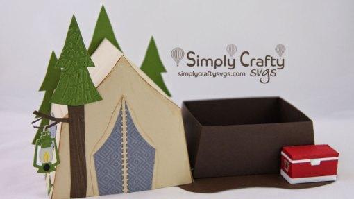 Tent Camping Box SVG File